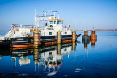The ferry to Egholm, Aalborg Stock Images