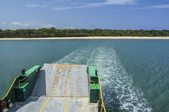 Ferry to Fraser Island, Queensland, Australia. The ferry to Fraser Island, Queensland, Australia Royalty Free Stock Photography