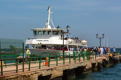 Ferry to Gorée Island Royalty Free Stock Photo