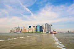 Ferry to Manhattan. Ferry from Staten Island to Manhattan Stock Photos