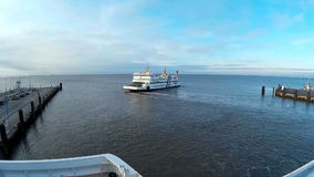 Ferry to the North Frisian Islands stock video