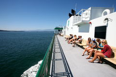 Ferry to Olympic national park Royalty Free Stock Photo