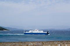 Ferry to the sea Corfu, Greece. Royalty Free Stock Image