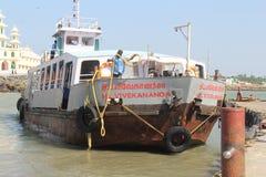 Ferry to Vivekanand Rock Memorial Royalty Free Stock Photos