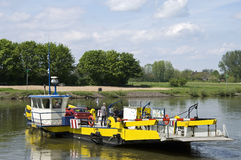 Ferry traffic on the river Ijssel, Netherlands Royalty Free Stock Images