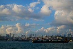 Liner on Bosphorus , Istanbul, Turkey. royalty free stock photography