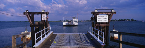 This is the ferry that travels between Oxford and Bellevue on the Eastern Shore of Maryland. It started operating initially in 168. 3 and has been in continuous Royalty Free Stock Photography