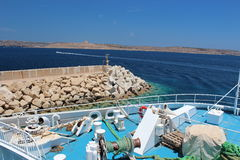 Ferry trip. Gozo Channel Line trip in early summer. Malta Royalty Free Stock Photo