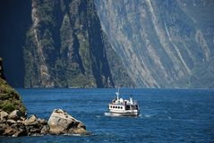 A ferry trip to Milford Sound Royalty Free Stock Photography