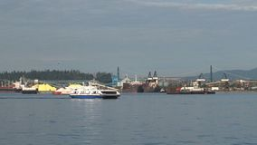 Ferry in Vancouver, Canada stock footage