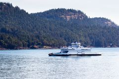 Ferry at  Vancouver Island Stock Photo