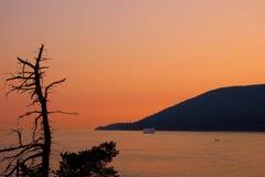 Ferry in viaggio dalla baia a ferro di cavallo a Nanaimo, Vancouver ad ovest, BC Fotografie Stock
