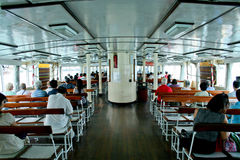 Ferry in Victoria Harbour Hong Kong Royalty Free Stock Photography