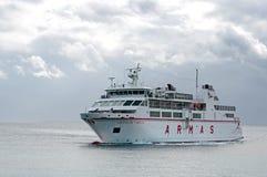 The ferry Volcan de Tindaya ARMAS Playa Blanca Lanzarote Royalty Free Stock Photo