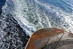 Ferry Wake Royalty Free Stock Photo