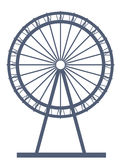 Ferry wheel. View of ferry wheel with white background Royalty Free Stock Images