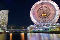 Ferry Wheel at Yokohama, Japan Royalty Free Stock Images