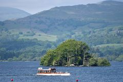 Ferry on Windermere from Bowness Stock Photos