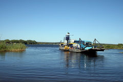 Ferry on Zambezi River Royalty Free Stock Image