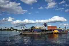 Ferry on Zambezi River Royalty Free Stock Photo