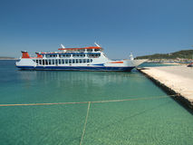 Ferryboat. Photographed the ferry to the island of Thassos, Greece royalty free stock photography