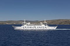 Ferryboat on Adriatic sea Stock Images