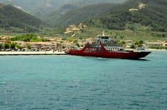 Ferryboat alongside the port Royalty Free Stock Photography