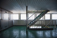 Ferryboat corridor and stairs Royalty Free Stock Photography