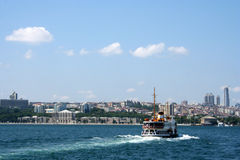 Ferryboat crossing the Bosphorus Stock Photos
