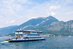 Ferryboat cruising on Lake Como royalty free stock photos