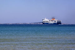 Ferryboat in Cyclades Stock Photography