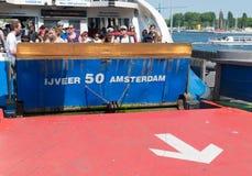 Ferryboat de Amsterdão Fotos de Stock