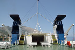 Ferryboat deck Royalty Free Stock Photography