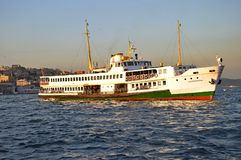 Ferryboat do passageiro em Istambul foto de stock royalty free