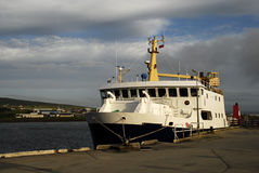 Ferryboat docked Stock Photo