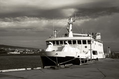 Ferryboat docked Stock Photography
