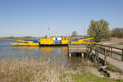 Ferryboat docked at landing place Royalty Free Stock Photos