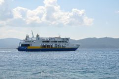 Ferryboat of  Edipsos ferries Stock Photo