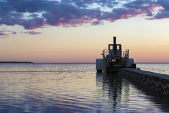 Ferryboat in the evening Stock Photography