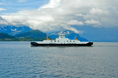 Ferryboat on the fjord Stock Photos