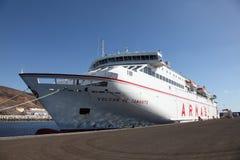 ferryboat fuerteventura Royaltyfria Foton