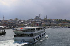 Ferryboat in Istanbul estuary Royalty Free Stock Photography