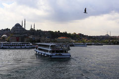 Ferryboat in Istanbul estuary Stock Image