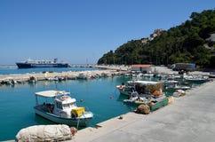 Ferryboat of Kefalonian lines Stock Photo