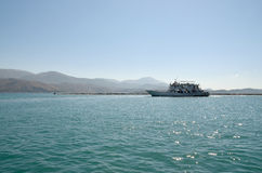 Ferryboat leaving port Royalty Free Stock Photography