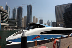 Ferryboat moderno em Dubai Imagens de Stock