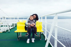 On a ferryboat Royalty Free Stock Image
