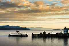 Ferryboat and Mt. Baker Royalty Free Stock Image