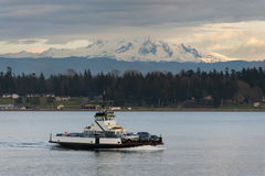 Ferryboat and Mt. Baker Royalty Free Stock Images