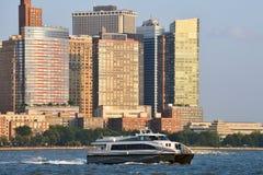 Ferryboat na hudsonie Zdjęcie Royalty Free
